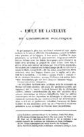 Emile de Laveleye et l'économie politique