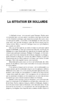 La situation en Hollande