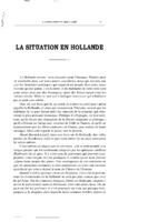 La situation en Hollande